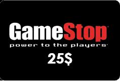 GameStop Gift Card (US) 25$